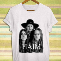 Screenprint funny popular shirt on etsy haim band for t shirt mens, t shirt woman available size by RnhKaos