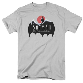 Batman TAS Clean Logo Mens T-Shirt
