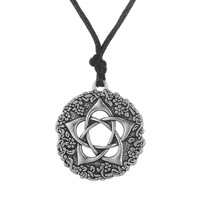 Dawapara Star Rose Minimalist Pentacle of the Goddess Wicca Pentagram Jewellery Flower Necklace&Pendants Women Collar Jewlery