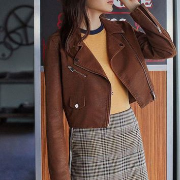 ESB4XG UO Faux Suede Moto Jacket | Urban Outfitters