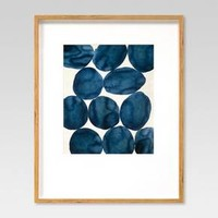 """Framed Watercolor Abstract Blue 22""""x28"""" - Project 62™"""