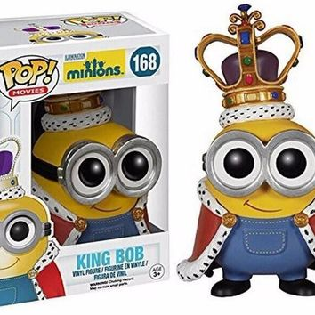 Pop Fun Toys 2016 New Model King Minions Kids Toys Doll Cosplay Minion in Action Figure King's Bob Dolls Brinquedos UY9