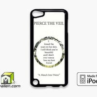 Pierce The Veil Song Lyrics iPod Touch 5th Case Cover by Avallen