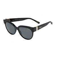 Chopard - Ice Cube 53mm Black Sunglasses / Smoke Lenses