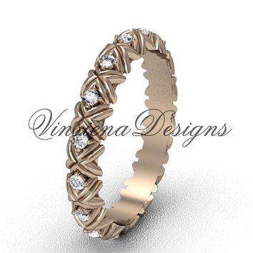 14kt rose gold wedding band VD10012