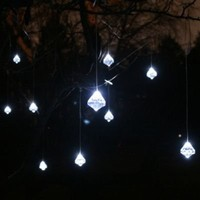 Faceted Crystal Solar String Lights - Frontgate