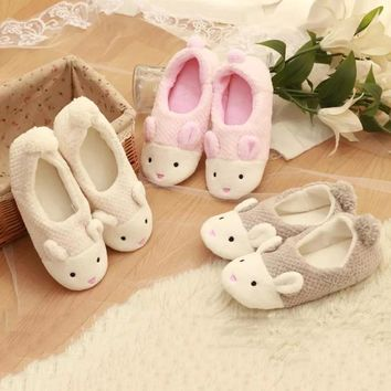2015 Winter cute little bunny month of shoes, warm slippers, pineapple grain home cora