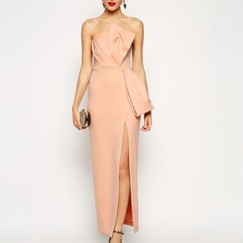 ASOS RED CARPET Origami Bow Maxi Dress