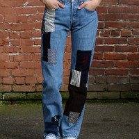 "One of a Kind Patched Vintage Levi's 501, ""Arrow"""
