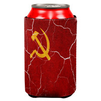 Distressed Soviet Union Flag All Over Can Cooler