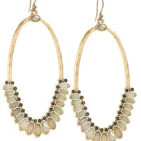 Lucky Brand Mint Drama Earring Womens - Gold (One Size)
