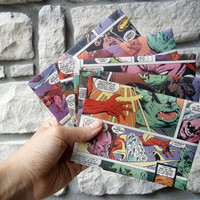 Avengers Comic Envelopes / Recycled Paper Stationery / Geek Gift