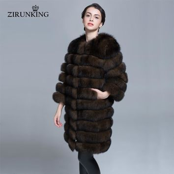 Women Quality Real Fur Coats Warm Women Outerwear Thick Winter Medium Clothes