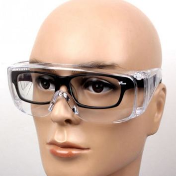 Window-shades Eye Protection Lab Outdoor Sports Cycling Eyewear Clear Protective Safety Goggles Glasses