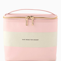 blush stripe lunch tote