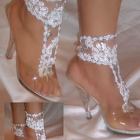 Bride & Bridal Party Barefoot Sandal Package, Choose 7 Pairs For A Great Price, Bottomless Sandals, Bride Beach Sandals, Bridesmaid Sandals