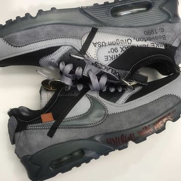 BC HCXX Nike Air Max 90 Off-White Virgil Abloh 2018 Black Grey