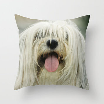 Shaggy Throw Pillow by Bruce Stanfield