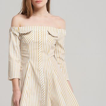 Ava Flared Stripe Dress Discover the latest fashion trends online at storets.com