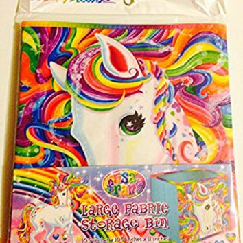 Lisa Frank Large Fabric Storage Bin- Neon Pony