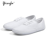 Women's spring canvas shoes female Korean white shoes breathable Literature student shoes female foreign trade shoes