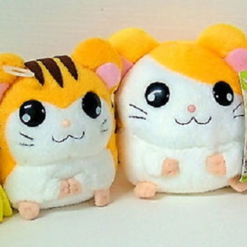 "Epoch Hamtaro And Hamster Friends 4 Mini 3"" Plush Doll Figure Set"