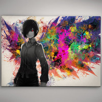 Tokyo Ghoul Touka Anime Watercolor Print Poster 11.70 x 16.50 A3 No323