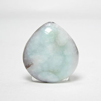Aqua Blue and White Hemimorphite Natural Stone Cabochon 43.5 carats