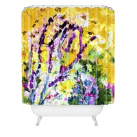 Ginette Fine Art Lavender and Bees Provence Shower Curtain