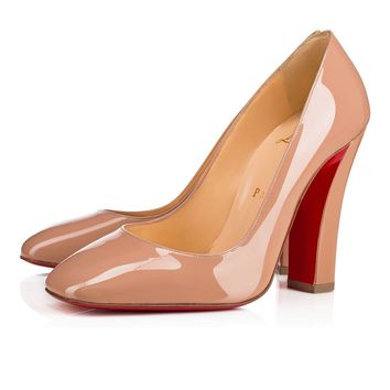 Christian Louboutin Cl Viva Pump Nude Patent Leather Pumps 3170820pk1a