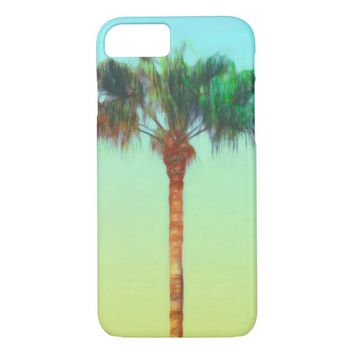palm tree tropical nature art iPhone 7 case