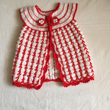 Crochet Baby Spring Dress Free Pattern, Crochet Cardigan Outfit For Infant, Baby Shower Gift, Buttoned Coat Sweater Baby Girl 0-9 months