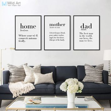 Home Family Decor Wall Canvas