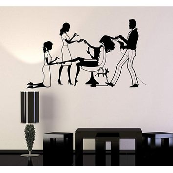 Vinyl Wall Decal Beauty Salon Spa Hair Stylist Nail Stickers Murals Unique Gift (ig4721)