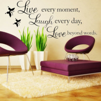 Quote Butterfly Wall Stickers Home Art Decal Vinyl Removable Wall Decor