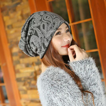 Women Knitted Cap Autumn Winter Warm Skullies Beanies hats