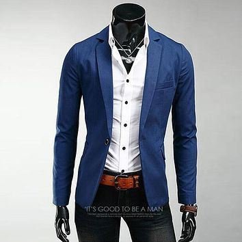 Terno Masculino Autumn New Men Casual Slim Fit Blazer Suits Jacket Fashion Style Mens Business Single Breasted Blazer Masculino