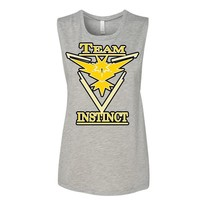 Pokemon Go Team Instinct: Yellow Muscle T-Shirt