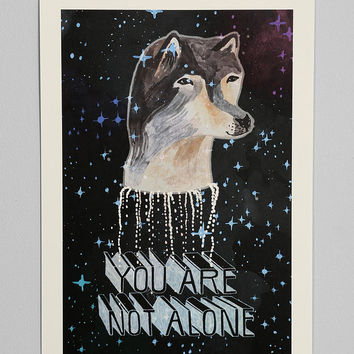 Ellie Cryer You Are Not Alone Art Print - Urban Outfitters