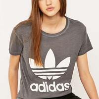 adidas Originals Premium Essentials Washed Grey T-shirt - Urban Outfitters