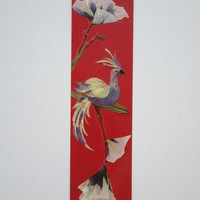 "Handmade unique bookmark ""Occupy a stable position"" - Pressed flowers bookmark - Unique gift - Paper bookmark - Original art collage."