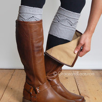 Grace & Lace Cable Knit Boot Cuff™