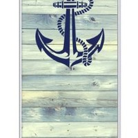 iZERCASE Anchor on wood iphone 5 / iPhone 5S RUBBER case - Fits iphone 5, iPhone 5S T-Mobile, AT&T, Sprint, Verizon, International
