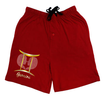 Gemini Symbol Adult Lounge Shorts