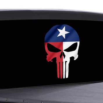 Punisher Skull Window Decal Texas State Flag Vinyl Graphic Military Dodge Ford