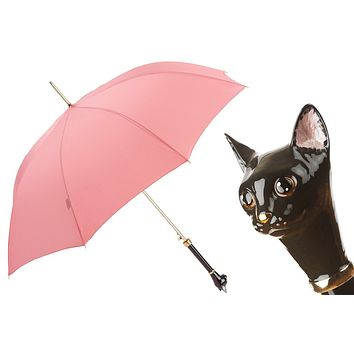 Pasotti Pink Cat Umbrella