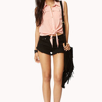 Studded Tie-Front Shirt