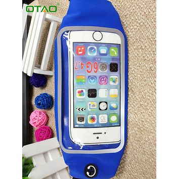 Universal Sport Waist Bag Screen Touching Waterproof Running Belt Pouch Mobile Phone Holder for iPhone 5 6 7 Plus For Samsung