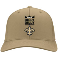 New Orleans Saints : Dilly Dilly : CP80 Port & Co. Twill Cap
