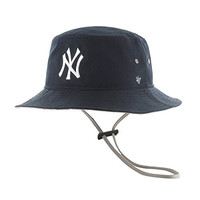 MLB New York Yankees Kirby Bucket Hat, One Size, Navy
